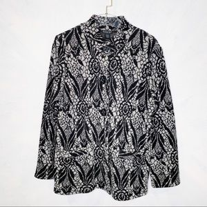 Tally Ho Wool Patterned Cardigan Sweater